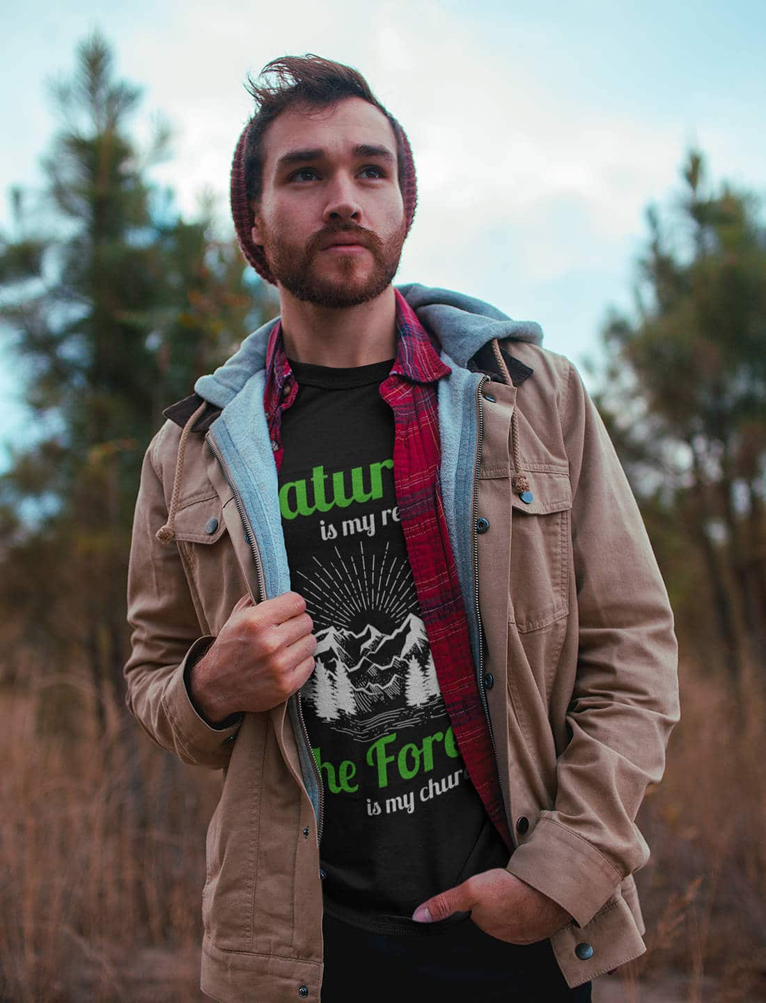 Wandern_T-Shirt_Nature is my religion