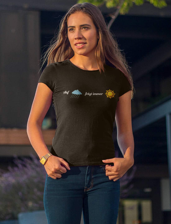 Wandern_T-Shirt_Auf_Regen_folgt_immer_Sonnenschein