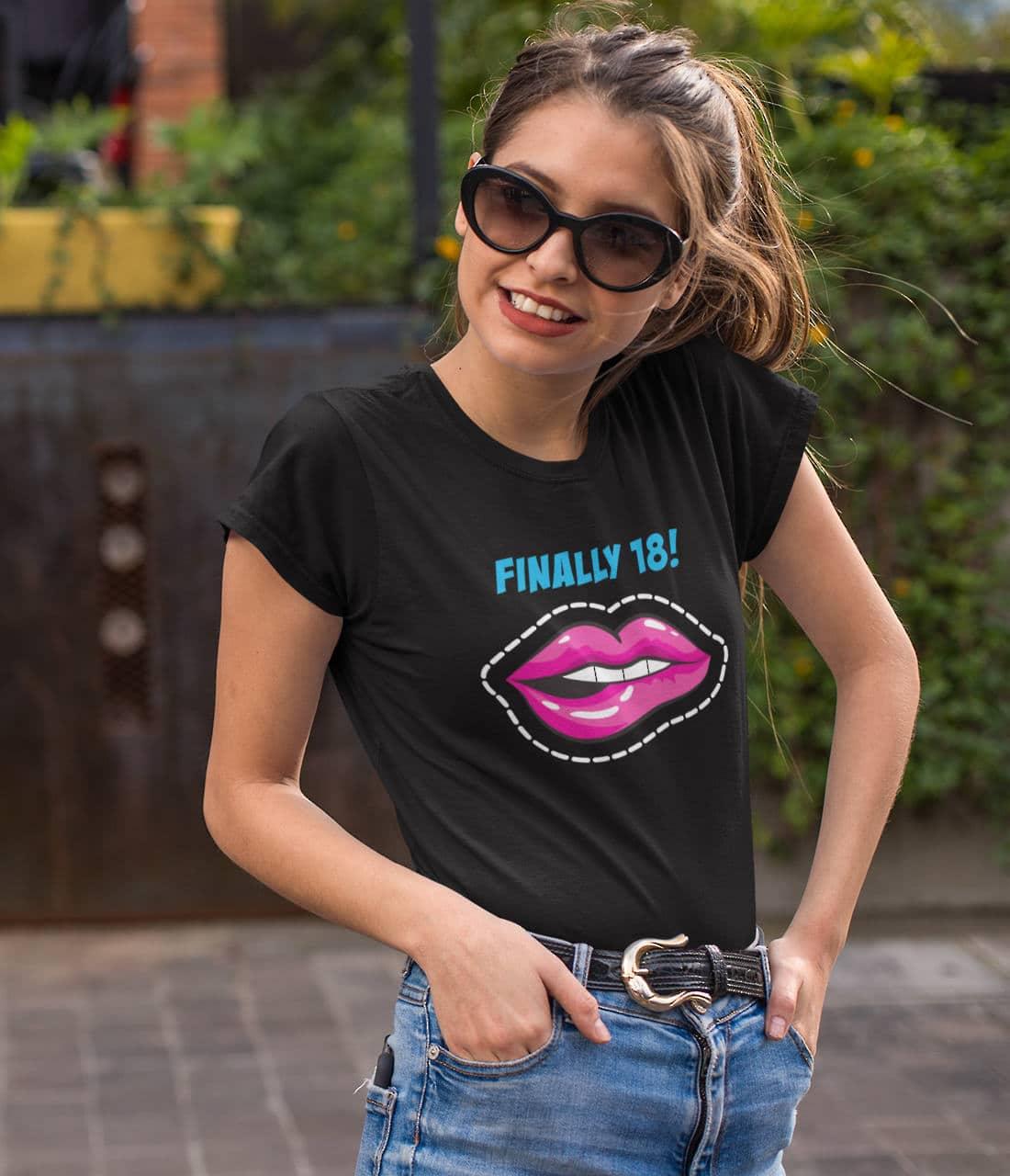 Slide-Geburtstags-T-Shirt-18-Jahre-Popart-birthday