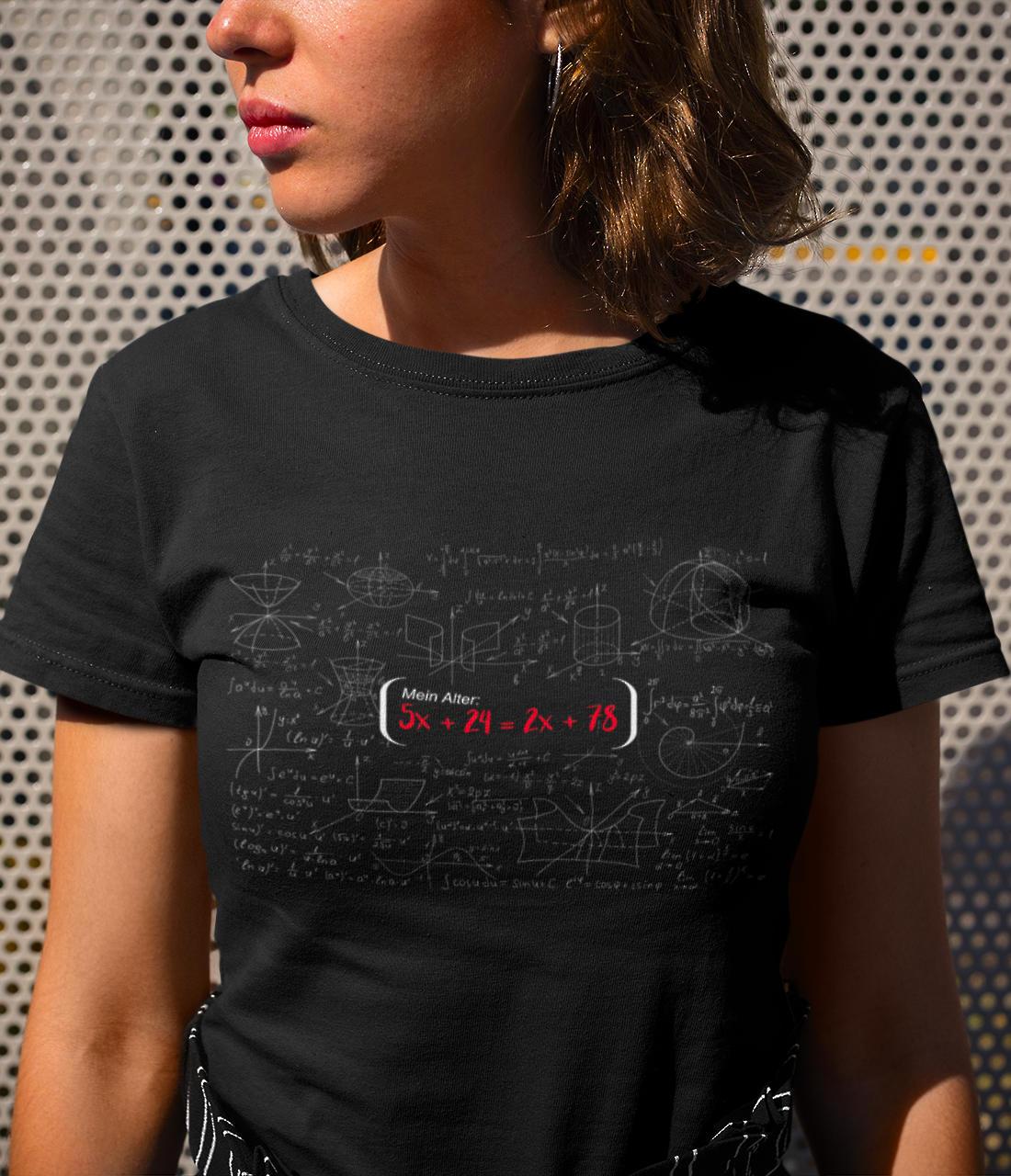 T-Shirt 18. Geburtstag Mathematische Formel Wurzel Gleichung