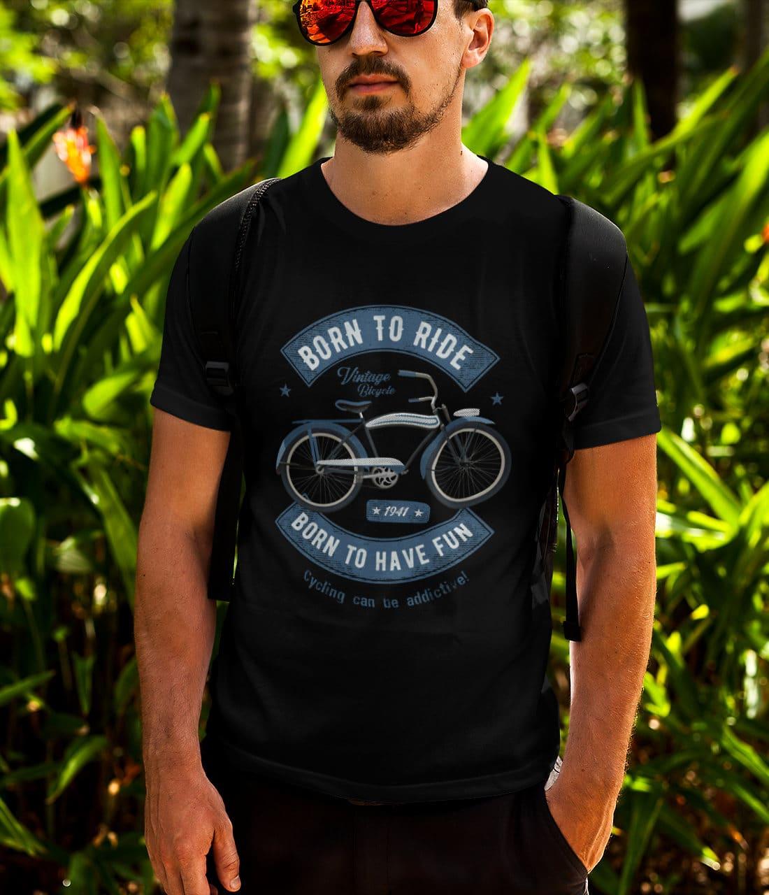 Fahrrad-T-Shirts-Vintage-Bike