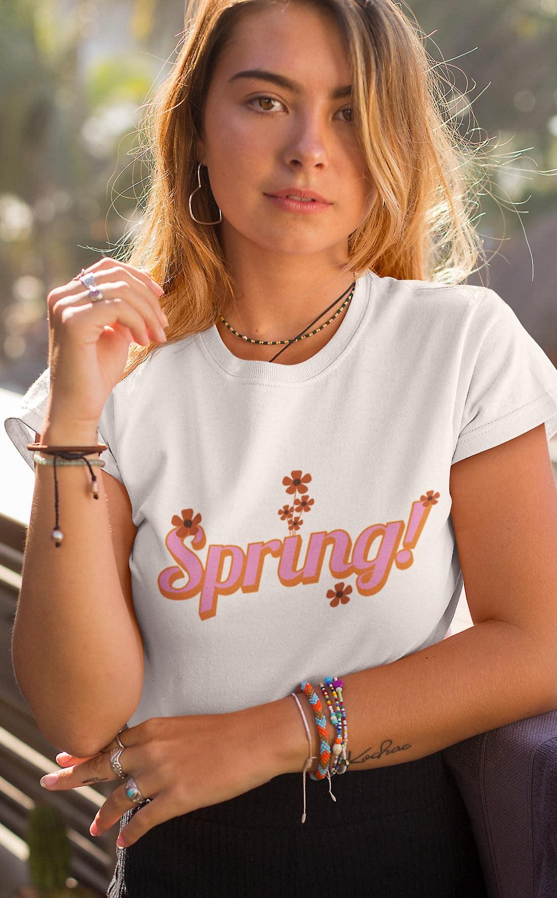 Vintage-Retro-Tshirt-Spring-Frühling