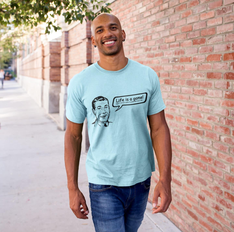 Retro-T-Shirt-Life-is-a-game-Vintage-50er