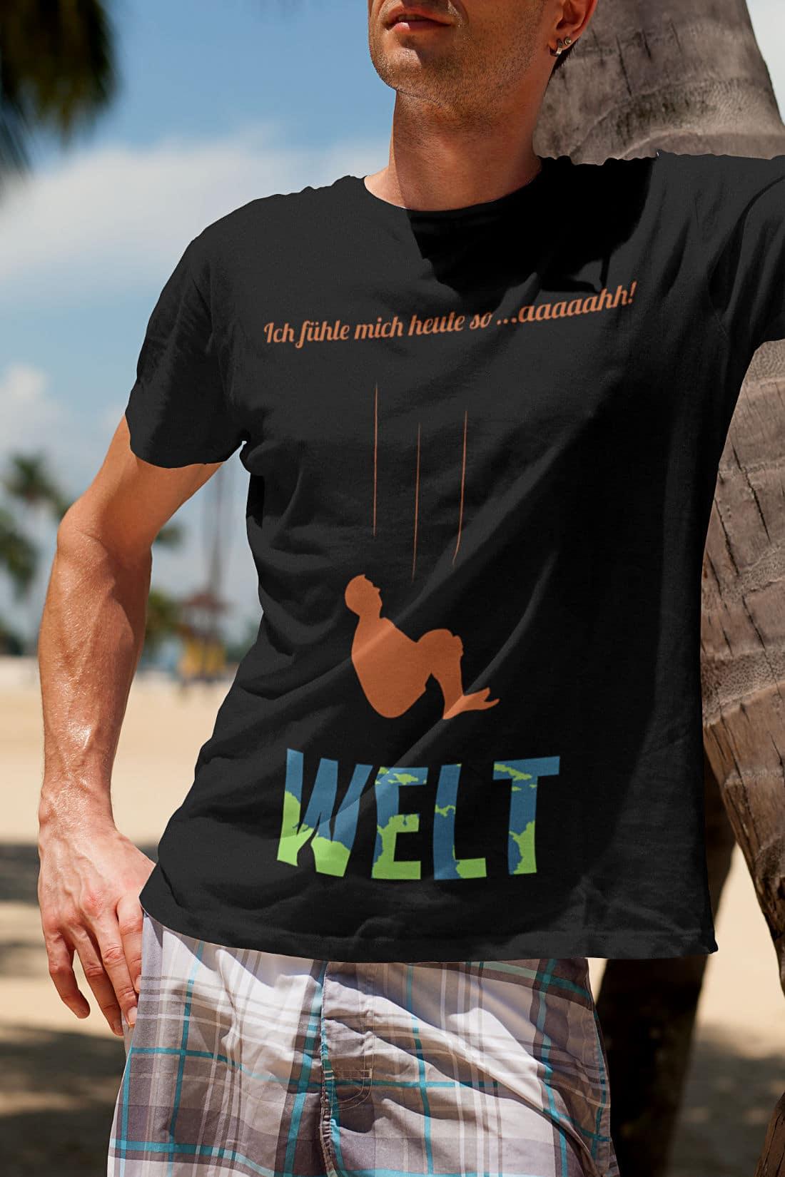 Slide-T-Shirts-Herren-Ich-fuehle-mich-heute-so-aaaaahh