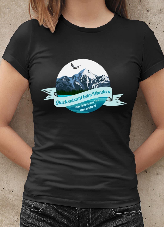 Wandern-T-Shirt-Glueck-entsteht-beim-Wandern-Spruch