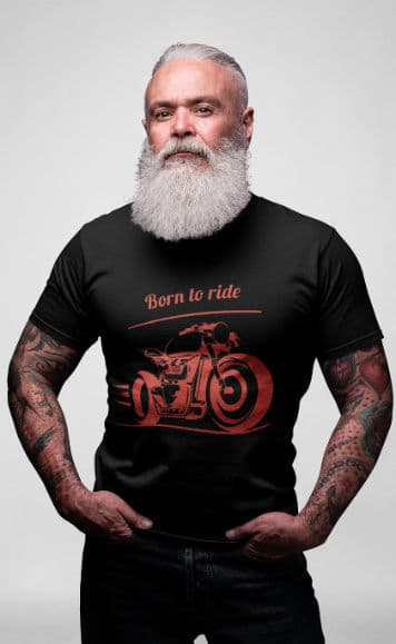 Start_Motorrad_Biker_T-Shirt_Born_to_ride
