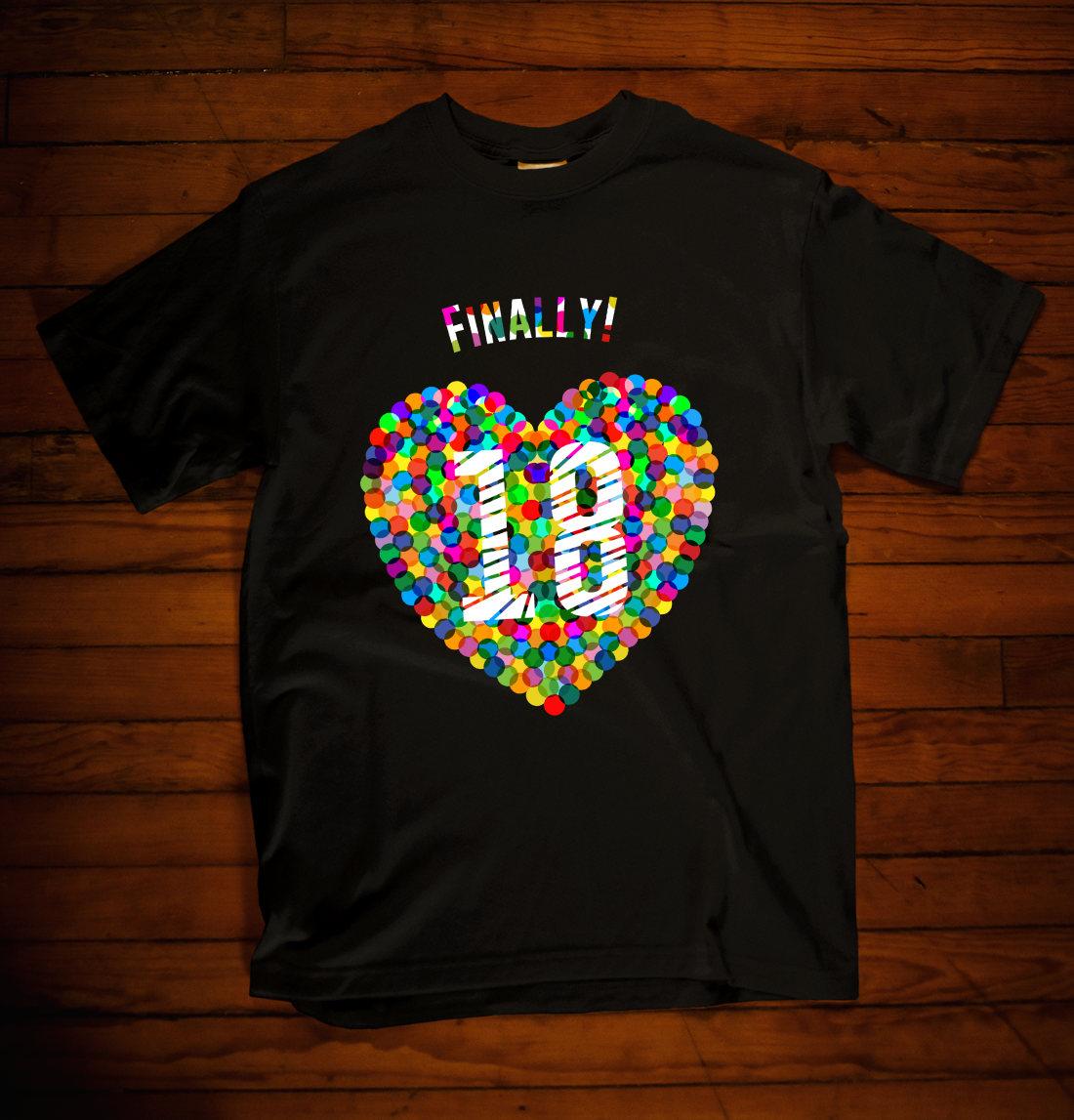 T-Shirt 18. Geburtstag Konfetti-Herz