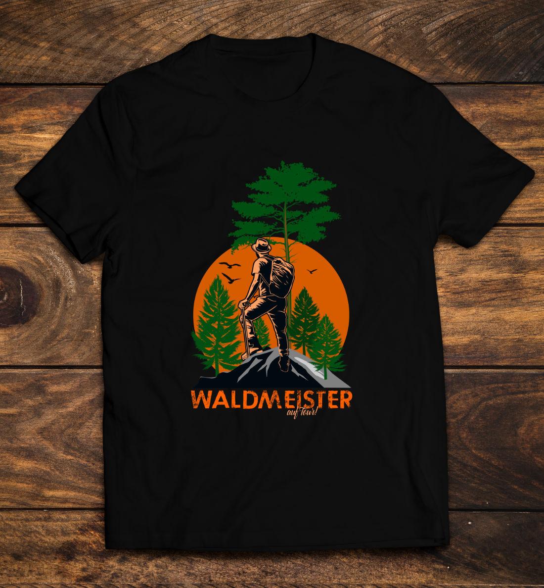 Wandern T-Shirt-Outdoor-Waldmeister