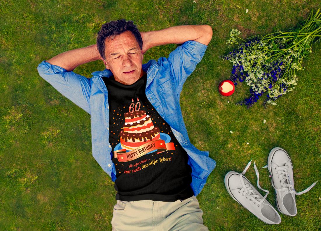 Slide-60-Jahre-Geburtstags-T-Shirt-suesses-Leben