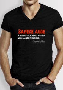 Slide - Peace-shirts-Frieden-sapere-aude-typo-version