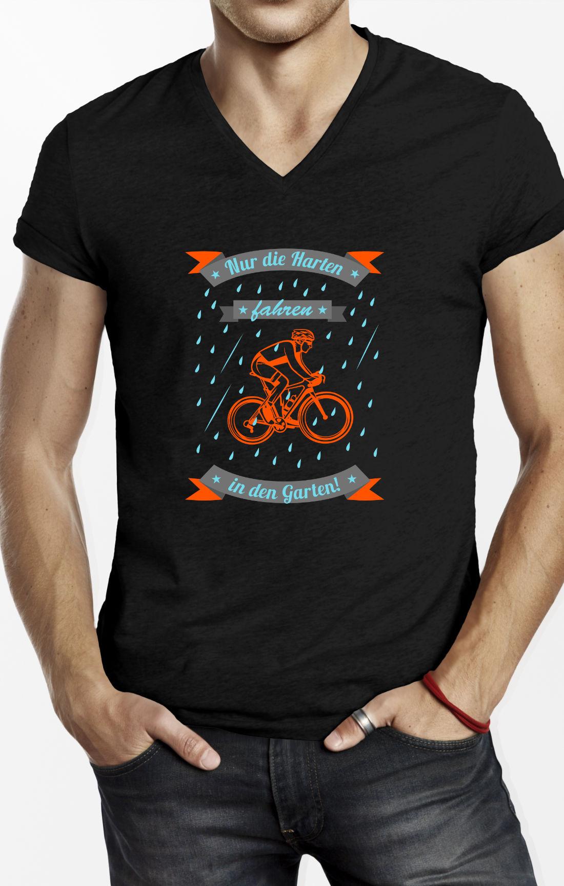 Fahrrad TShirt Nur die Harten
