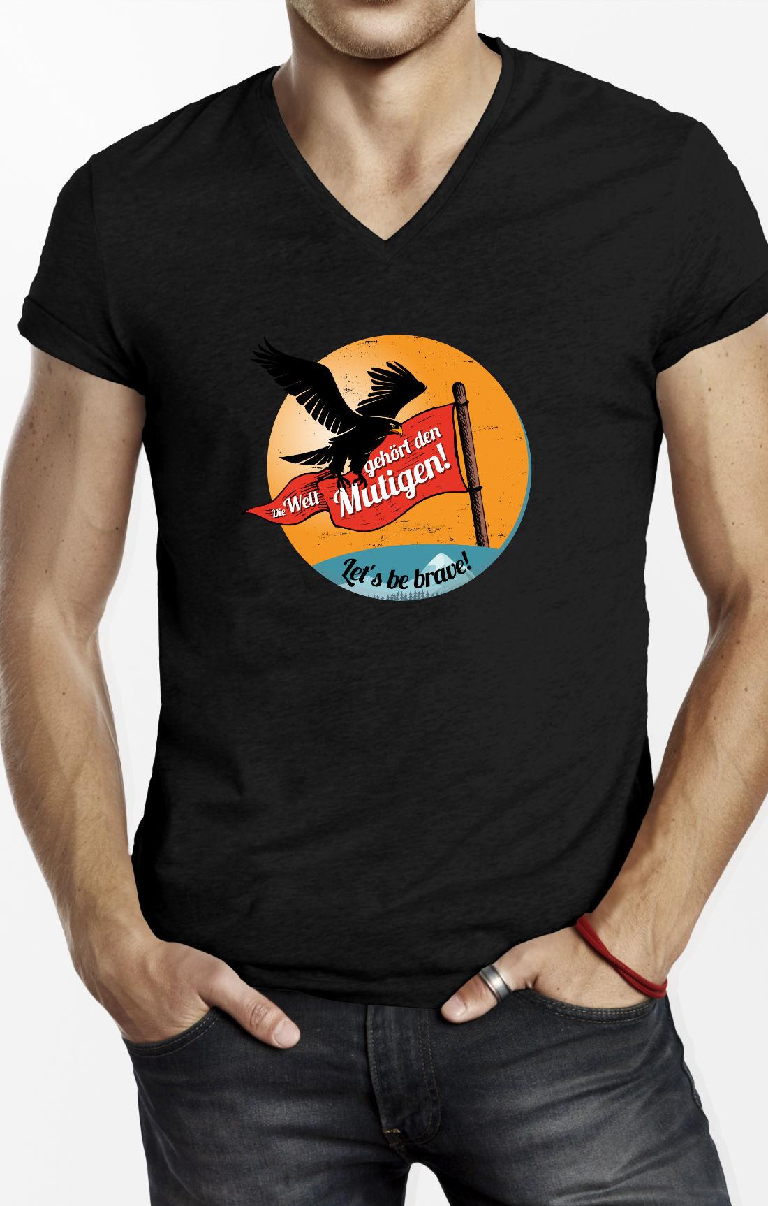 Peace Shirt-Die-Welt-gehör-den-Mutigen-brave-scr