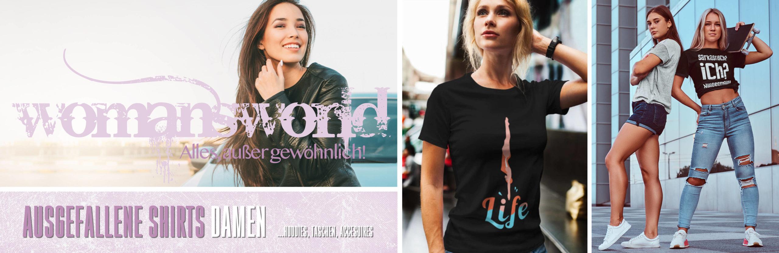 Ausgefallene T-Shirts Damen