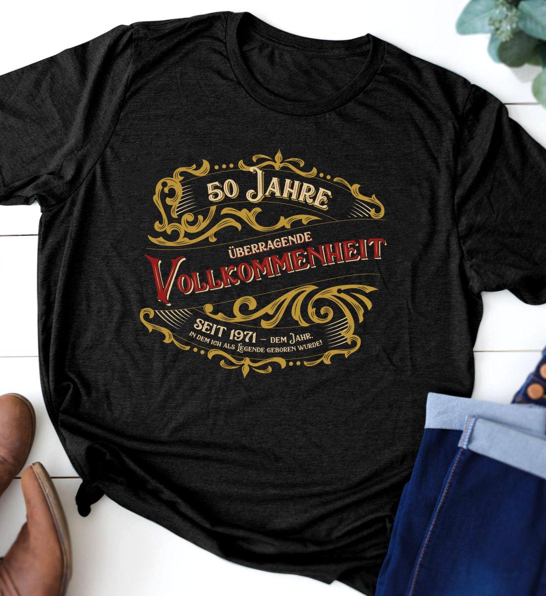 Slide-50-Jahre-Geburtstags-T-Shirt-Vollkommenheit-1971