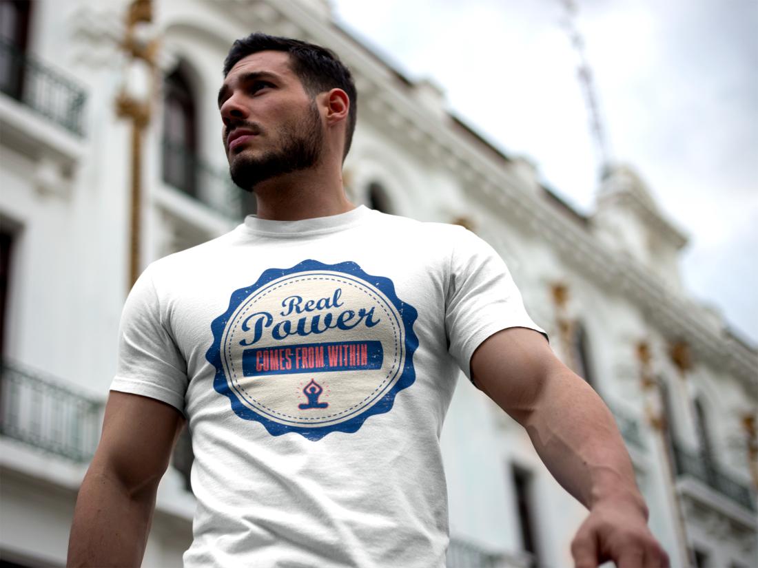 T-Shirts-Herren-Real-Power