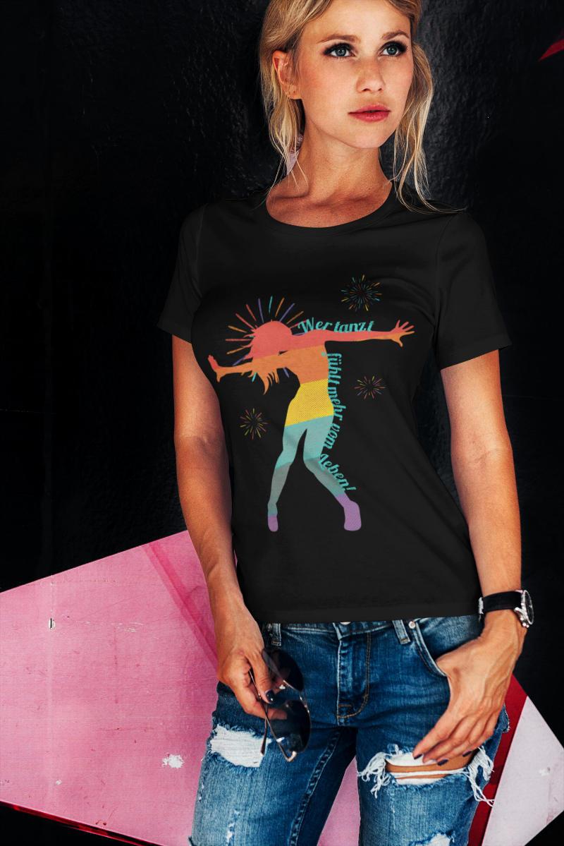 Ausgefallene-T-Shirts-Damen-Tanzen
