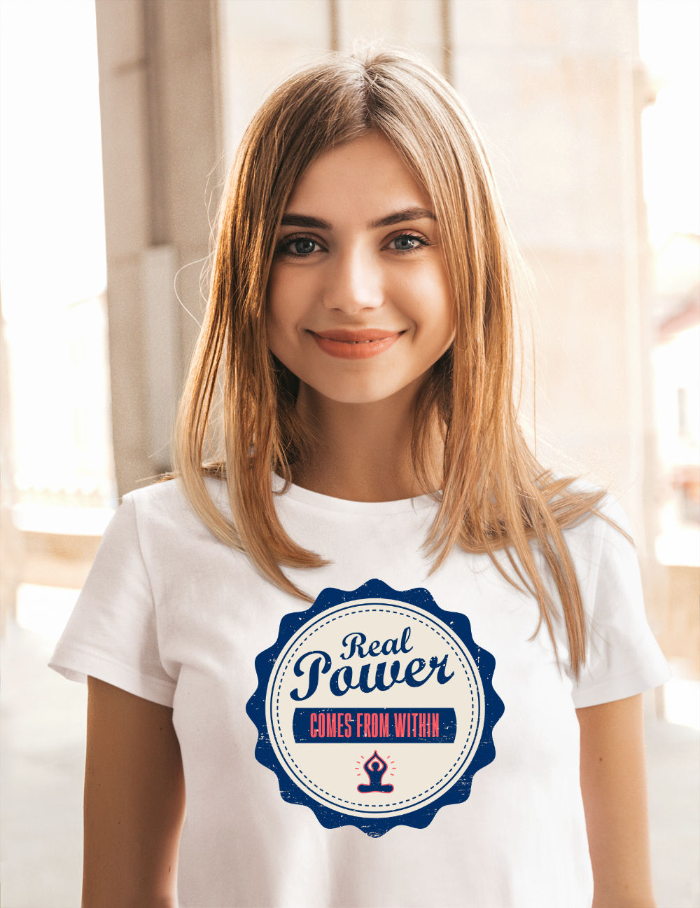 Ausgefallene-T-Shirts-real-power-comes-from-within