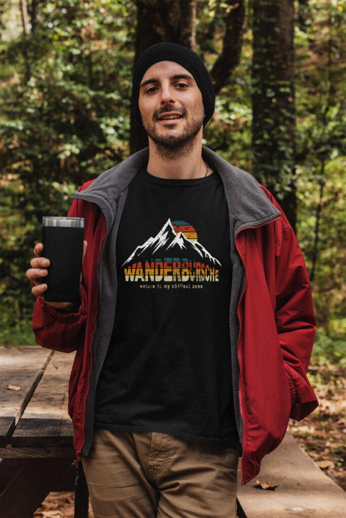 Wanderbursche - Tshirt für Naturfreunde
